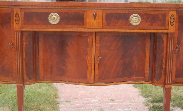 Baltimore hepplewhite inlaid mahogany sideboard e a mack for Sideboard alt